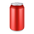 Red Metal Aluminum Beverage Drink Can 500ml. - 66970792