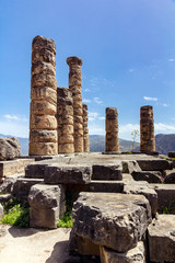 Temple of Apollo on Delphi, Greece