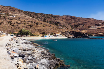 Plaka beach in Andros island