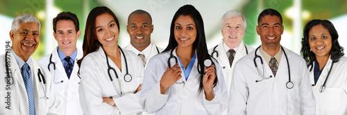 Leinwanddruck Bild Doctors In a Hospital