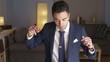 Suave Mexican businessman dancing