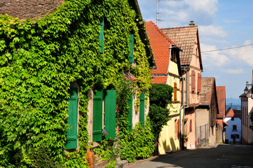 France, picturesque village of Riquewihr in Alsace