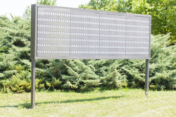 shooting range score board