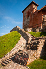 Remains of the Upper Castle on the Gediminas Hill in Vilnius