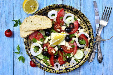 Traditional greek salad.