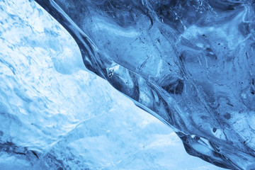 Inside the glacier detail