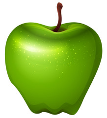 A crunchy green apple