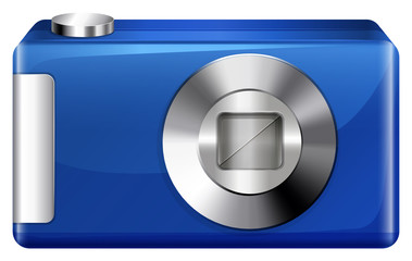 A blue digital camera