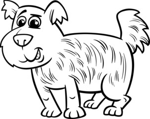shaggy dog cartoon coloring page