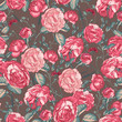Beautiful Vintage Seamless Roses Background
