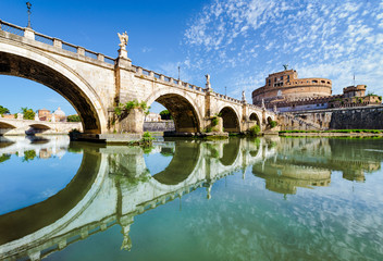 Bridge and castle Sant Angelo, Rome