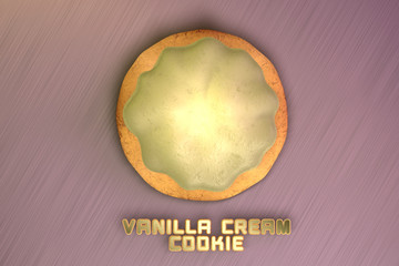 Vanilla Cream Cookie