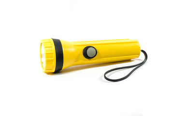 yellow plastic torch flashlight