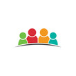Four people friends. Group of persons. Vector icon