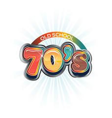 70s Vintage old school image logo