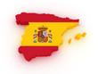 Obrazy na płótnie, fototapety, zdjęcia, fotoobrazy drukowane : 3D map of SPAIN
