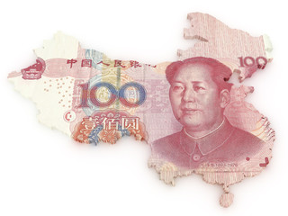 Chinese Yuan 3d map
