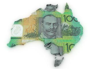 AUSTRALIAN DOLLAR 3d map