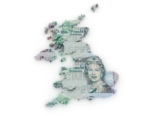 British Pound DOLLAR 3d map