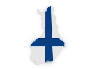 Finland 3d map