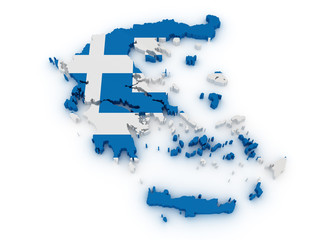 Greece 3d map