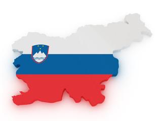 Slovenia 3d map