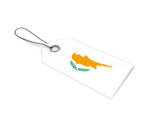 Cyprus flag label / tag