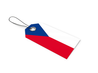 Czech flag label / tag