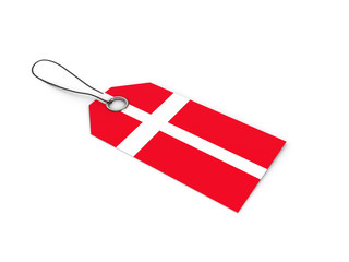 Denmark flag label / tag