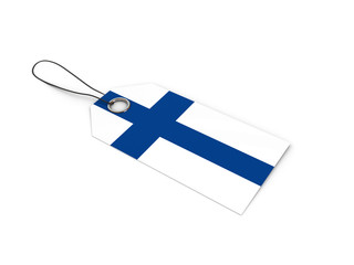 Finland flag label / tag