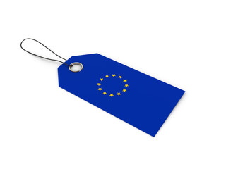 European_Union flag label / tag