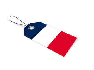 France flag label / tag