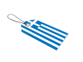 Greece flag label / tag