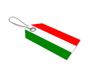 Hungary flag label / tag