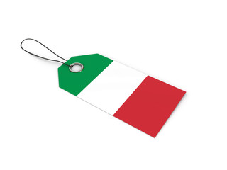 ITALY flag label / tag