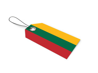 Lithuania flag label / tag