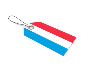 Luxembourg flag label / tag