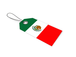 Mexico flag label / tag