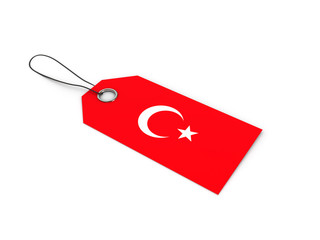 Turkey flag label / tag