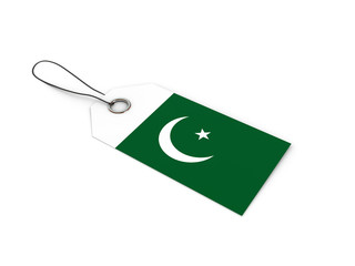 Pakistan flag label / tag
