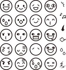 おもしろい表情のアイコン