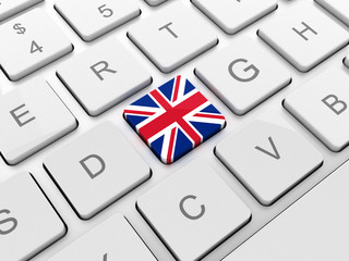 United Kingdom flag on keyboard button