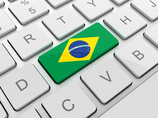 brazil flag on keyboard button