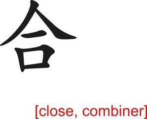 Chinese Sign for close, combiner