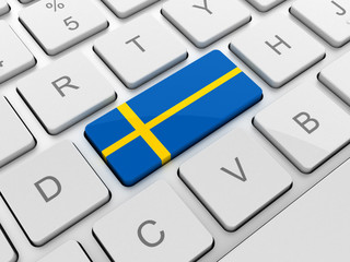 sweden flag on keyboard button