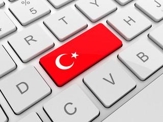 turkey flag on keyboard button
