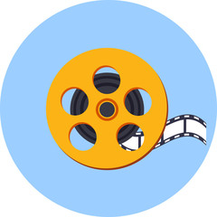 Vector Film Reel  with a Film Strip