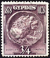 Silver coin of Amathus (Cyprus 1928)
