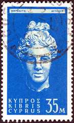 Head of goddess Aphrodite (Cyprus 1962)