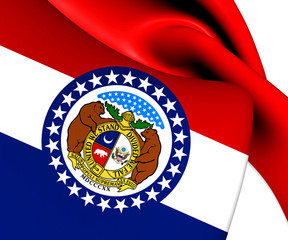 Flag of Missouri, USA.